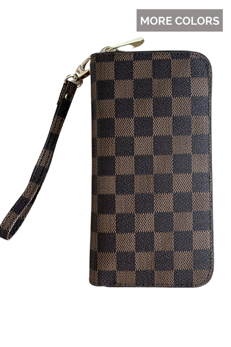 Picture of Timeless Checkered Double Layer Wallet