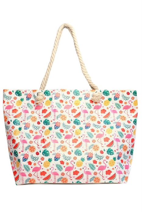 Picture of Fruity Flamingoes Beach Tote