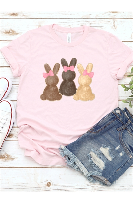 Picture of Watercolor Bunnies Graphic Tee