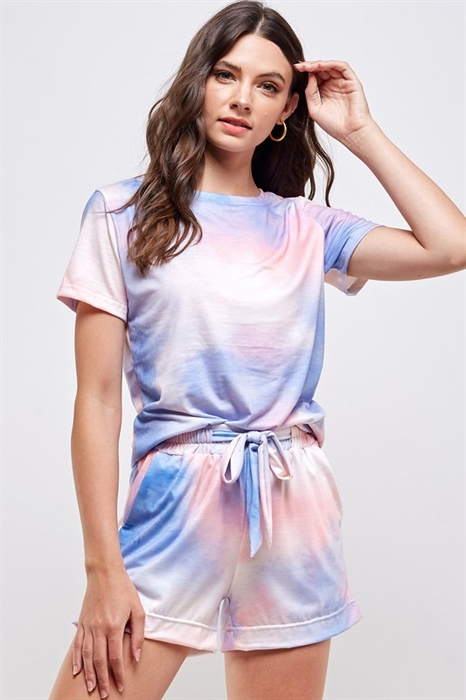 Picture of Tie Dye Shorts Set