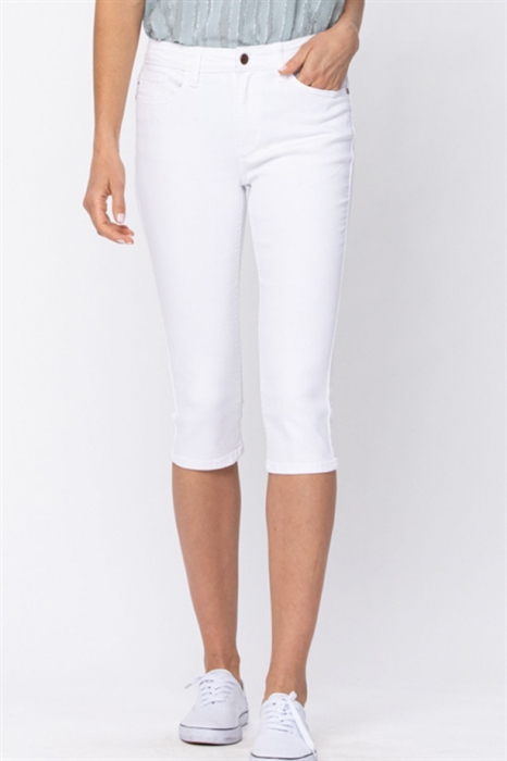 Picture of Judy Blue White Capris