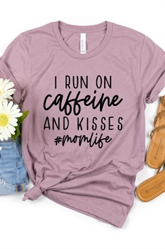Picture of Caffeine and Kisses Graphic Tee