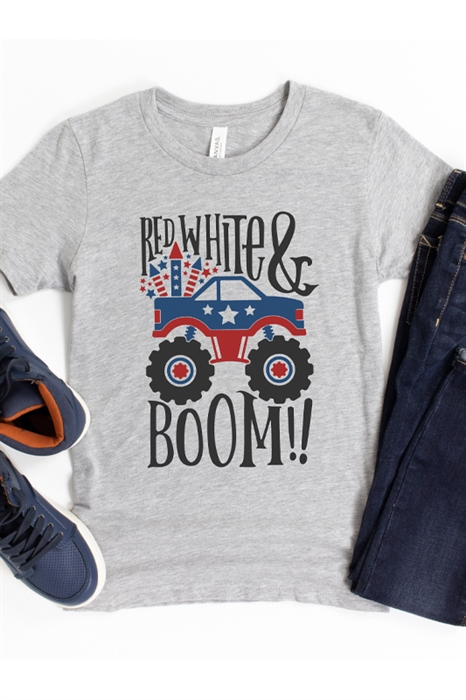 Picture of Red White and Boom Graphic Tee