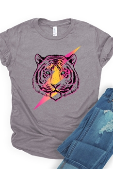 Picture of Retro Tiger Bolt Graphic Tee