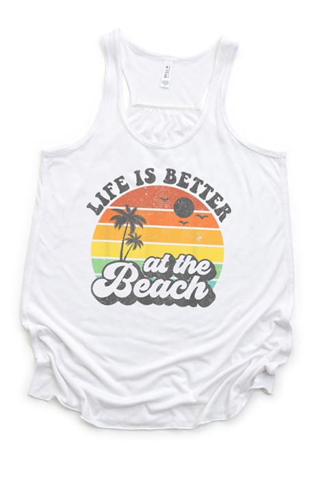 Picture of Life Is Better At The Beach Flowy Graphic Tank