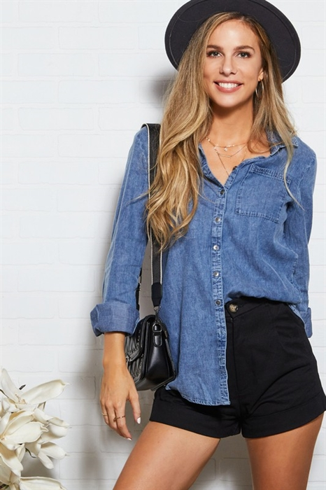 Picture of Chambray Button Up Top