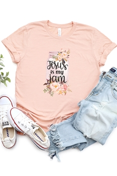 Picture of Jesus Is My Jam Graphic Tee by FBT