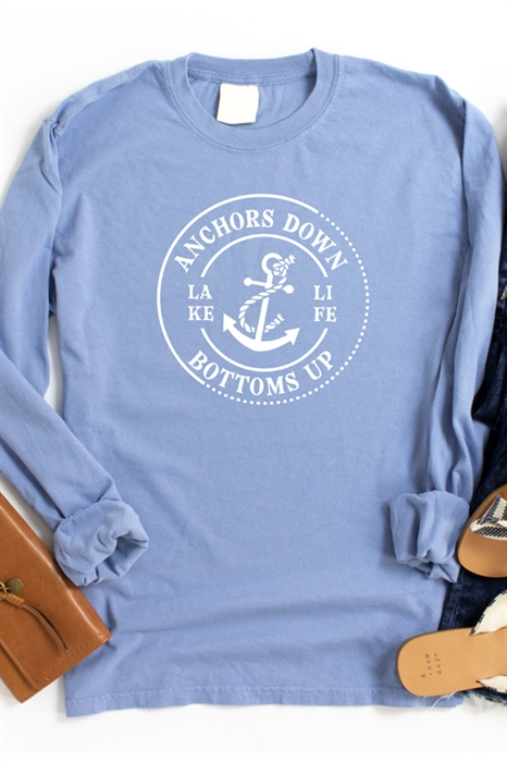 Picture of Anchors Down LS Graphic Tee