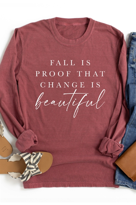 Picture of Change Is Beautiful LS Graphic Tee