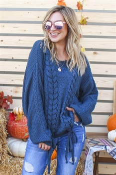 Picture of CarrieAnn Braided Sweater