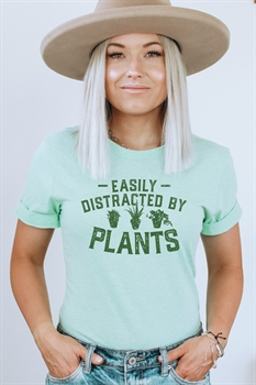 Picture of Easily Distracted by Plants Graphic Tee