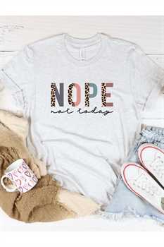Picture of Leopard Nope Not Today Graphic Tee